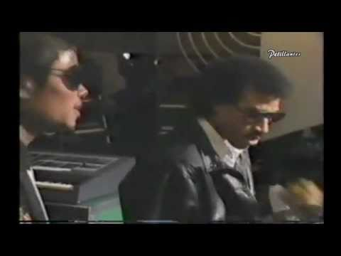 Michael Jackson and Lionel Richie - Behind the scenes of We Are The World