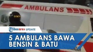 Kerusuhan di Gedung DPR, Polisi Amankan 5 Ambulans Pemprov Jakarta yang Angkut Bensin dan Batu