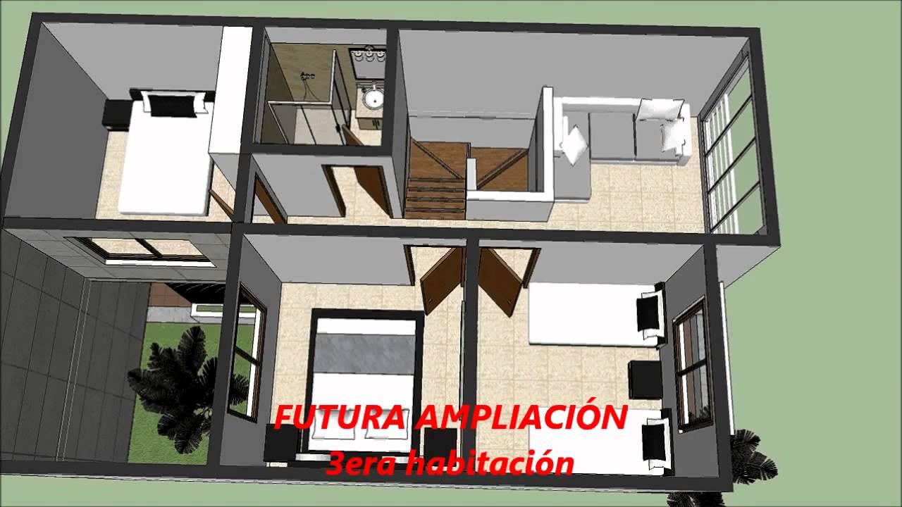Planos de casa moderna de 2 pisos youtube for Planos de casas modernas