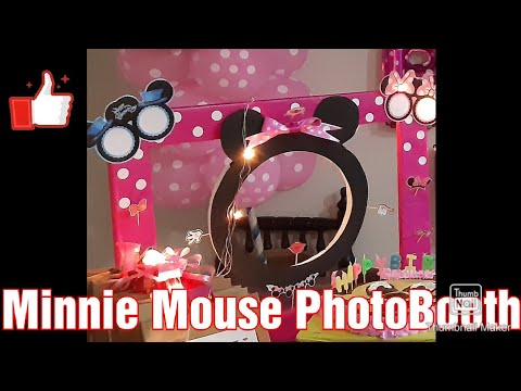 DIY Minnie Mouse Photo Booth/ Frame| 米妮老鼠照相亭
