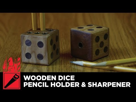 How to make a Wooden Dice Pencil Holder and Sharpener - Woodworking