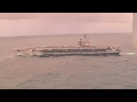 Ukraine War - USS George HW Bush CVN 77 enters Black Sea during Crimea seizure