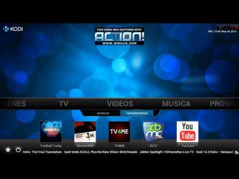 kodi con TV en vivo y EPG