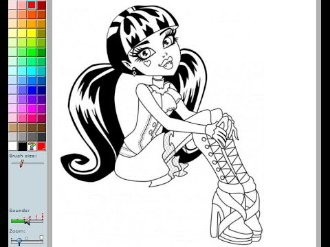 Monster High Coloring Pages For Kids Monster High Coloring Pages