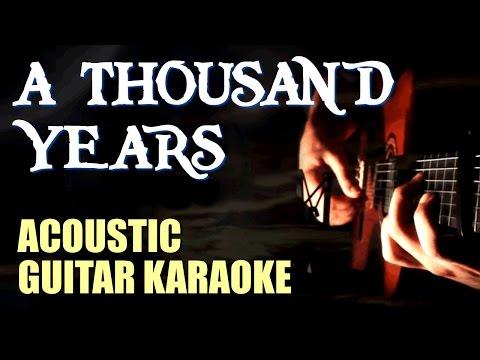 A Thousand Years - Christina Perri -  Acoustic Guitar Karaoke