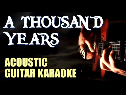 Karaoke A Thousand Years - Video with Lyrics - Christina Perri