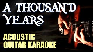 A Thousand Years - Christina Perri -  Acoustic Guitar Karaoke