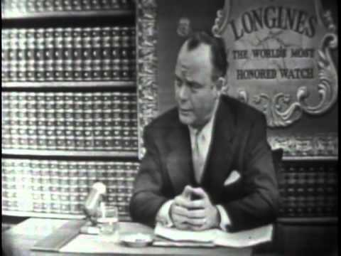 LONGINES CHRONOSCOPE WITH SEN. FRED A. SEATON