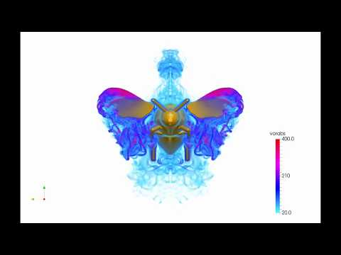 Bumblebee Flight In Turbulence: High Resolution Numerical Simulations