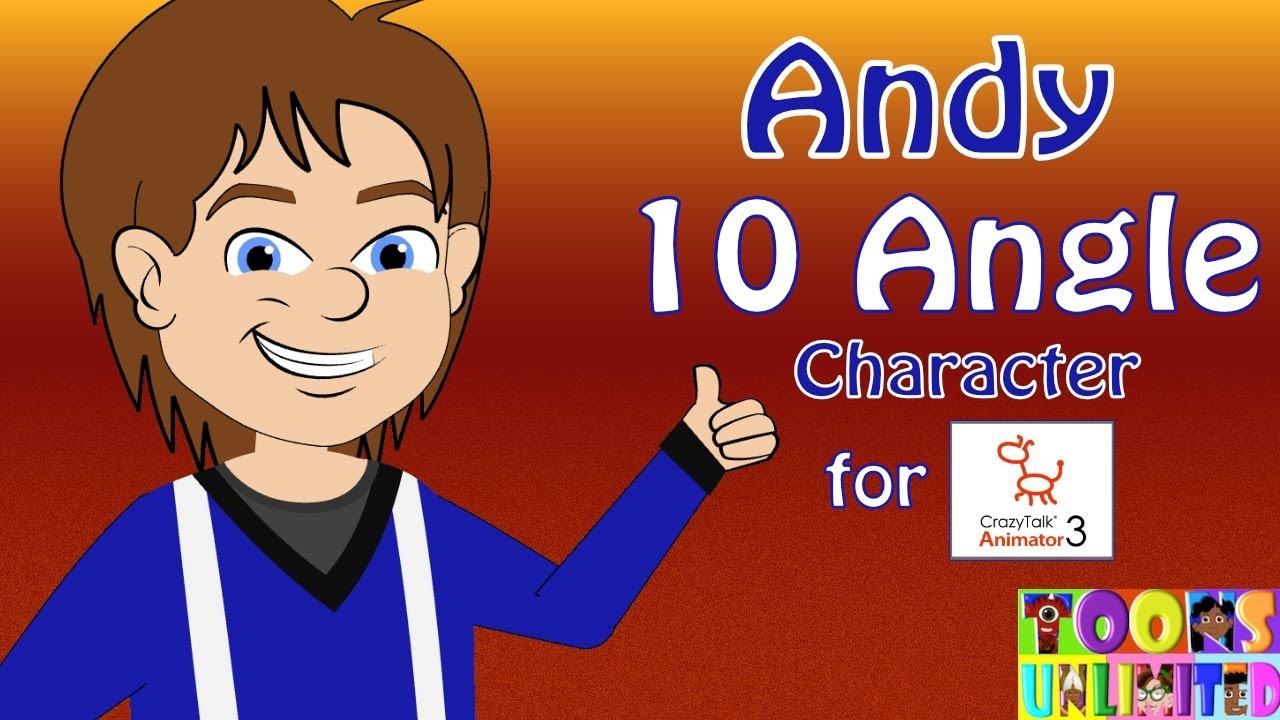 Andy Character Pack Promo - Crazytalk Animator 2