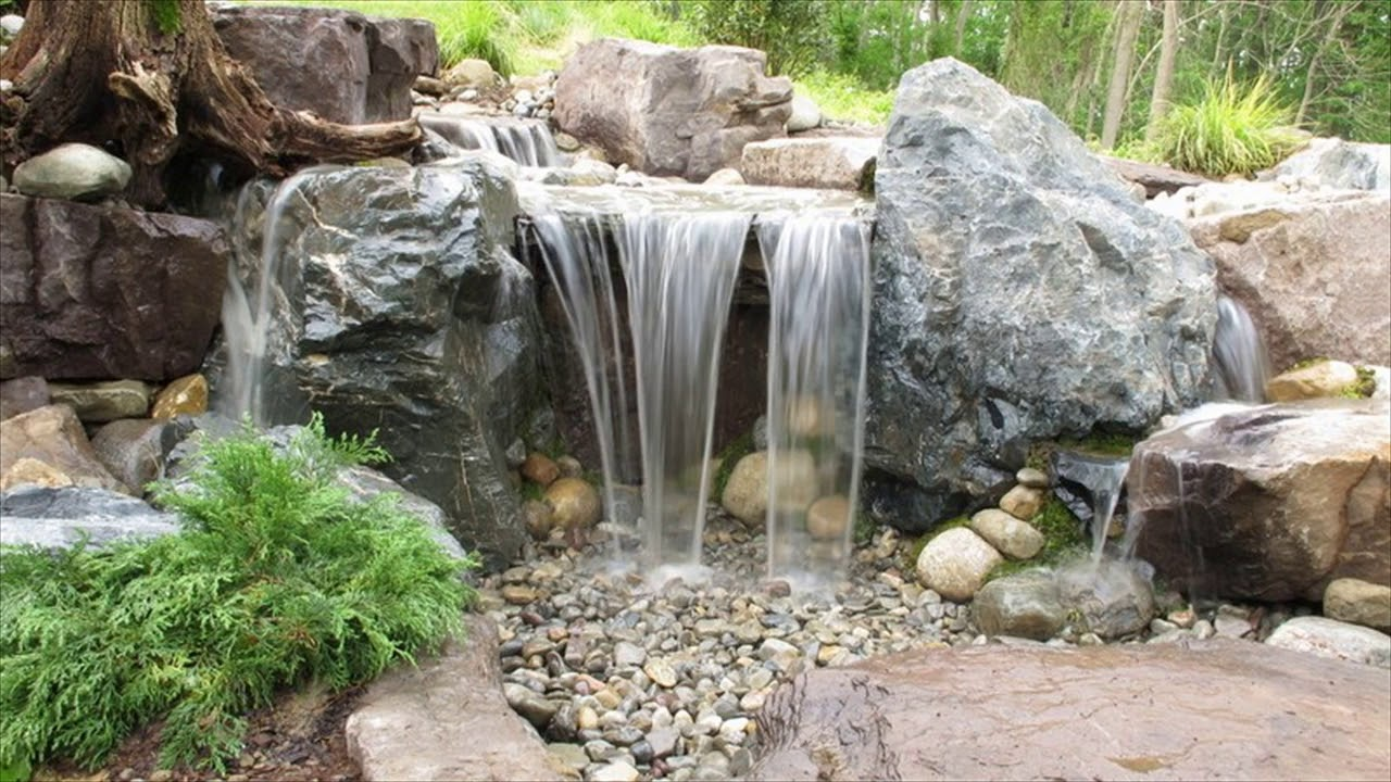 build simple backyard waterfall