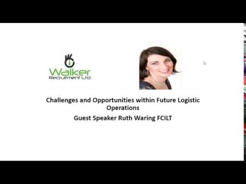 "Podcast with Ruth Waring FCILT -""Challenges and opportunities within future logistic operations"""