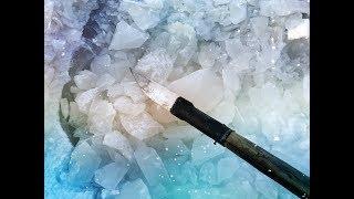 Якутская пешня своими руками.Колем лёд.