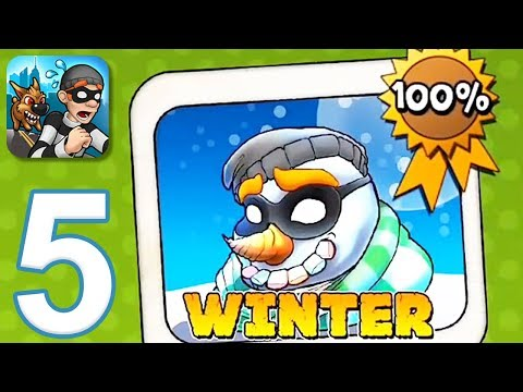 Robbery Bob - Gameplay Walkthrough Part 5 - Chapter 5: Winter (iOS, Android)
