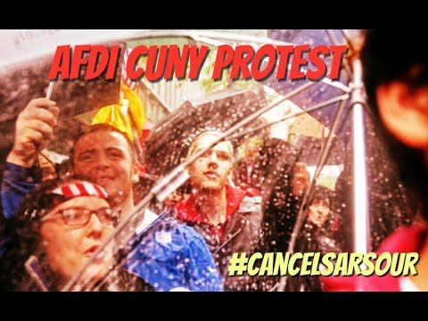 AFDI's Linda Sarsour Protest at City University of New York  - FULL EVENT