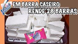 SABÃO VANISH CASEIRO CLAREADOR DE ROUPAS EM BARRA E SEM SODA