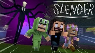 SLENDERMAN CHASES THE BABIES AROUND THE SPOOKY NEIGHBOURHOOD - Minecraft Adventure
