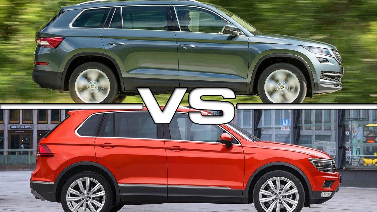 Skoda Kodiaq vs Volkswagen Tiguan - YouTube