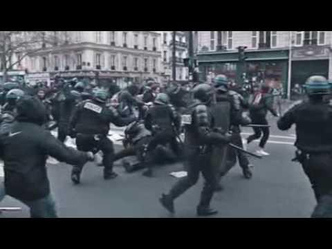 Migrantenkrieg in Frankreich - Moslems und die Antifa übernehmen die Strassen von Paris