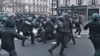 Migrantenkrieg in Frankreich - Moslems und Antifa übernehmen die Strassen von Paris