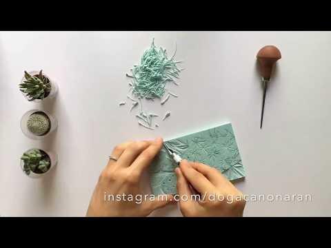 Carving and Printing a Cactus Stamp by Dogacan Onaran