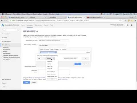 Creating a Remarketing List in Google Adwords