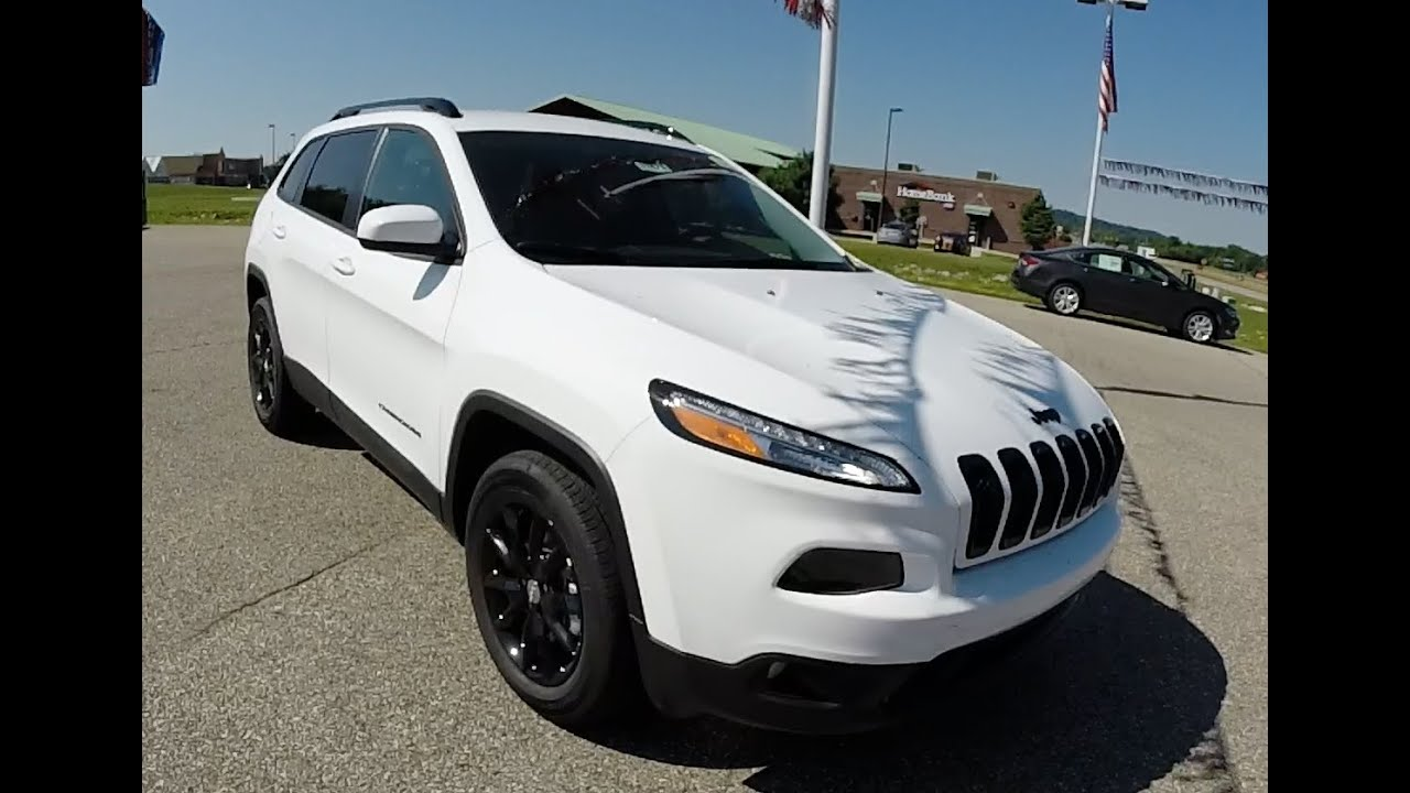 2014 Jeep Cherokee Altitude White | Black Wheels | New Jeep | 17475    YouTube
