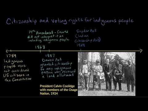 Citizenship and voting rights of indigenous people | Citizenship | High school civics | Khan Academy