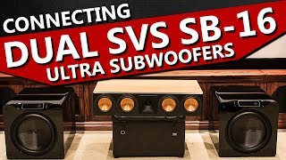 How to Connect Two Subwoofers to One Receiver | Dual SVS SB-16 Ultra