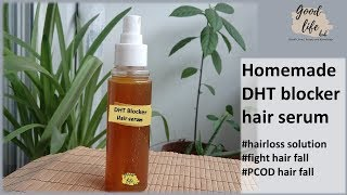 Homemade DHT blocker Hair serum for PCOS/PCOD hairloss and androgenetic alopecia (English subtitles) YouTube Videos