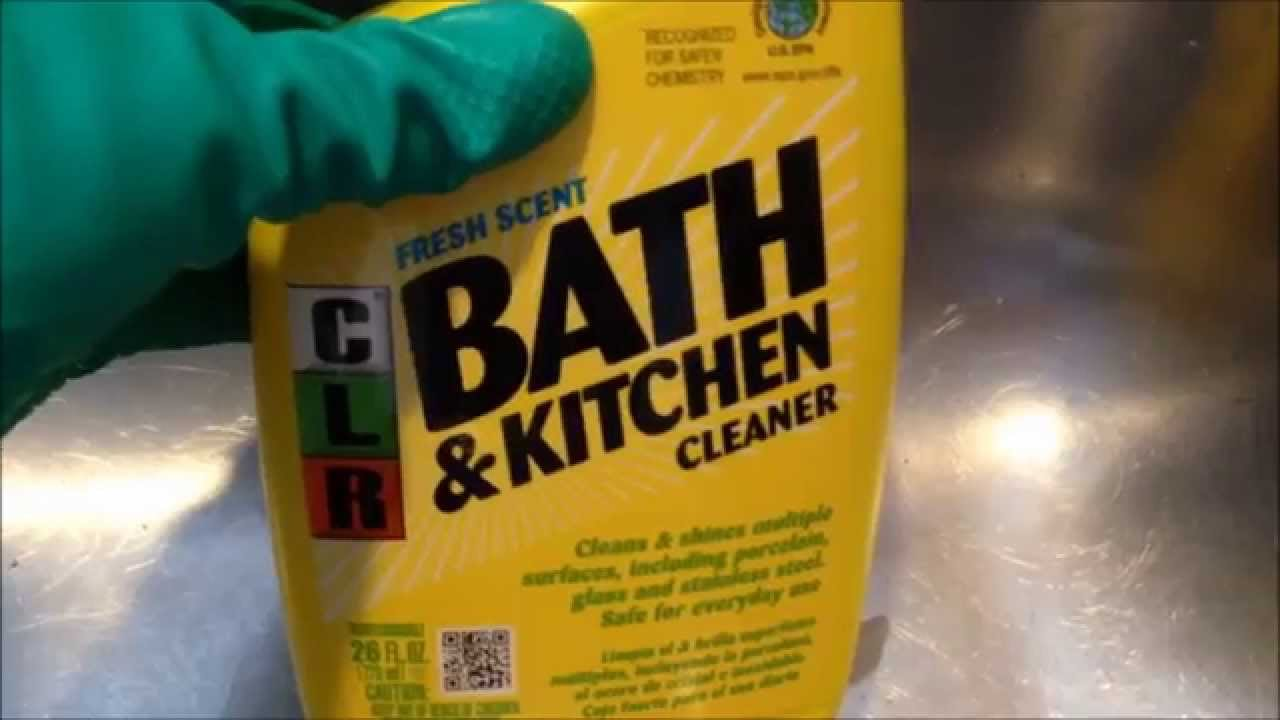 How To Clean Up Stainless Steel Sinks Clr Kitchen Cleaner Youtube