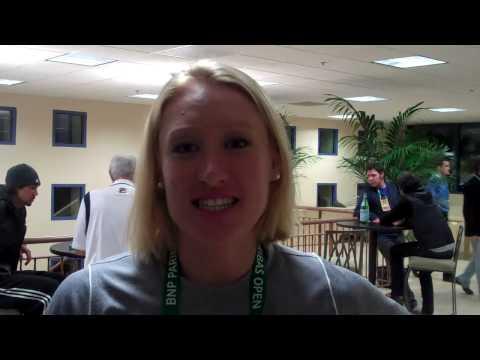 Elena Baltacha talks after beating Na Li in Indian Wells