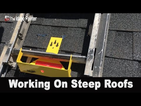 How To Work On Steep Roofs.  The Pivit Ladder Boot