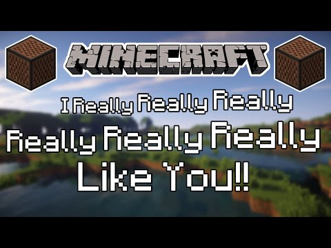 ♪ [FULL SONG] MINECRAFT I Really Like You by Carly Rae Jepsen in Note Blocks (Wireless) ♪
