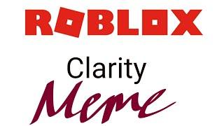ROBLOX CLARITY MEME| Parodia| Ragdoll Engine| Roblox| Kimberly-san xd