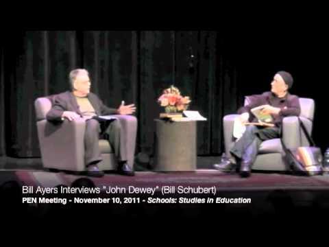 """Bill Ayers interviews """"John Dewey"""" (Bill Shubert) at the 2011 PEN Meeting, part 1/9"""