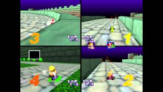 Mario Kart 64 - 4 Player Frenzy, All Tracks