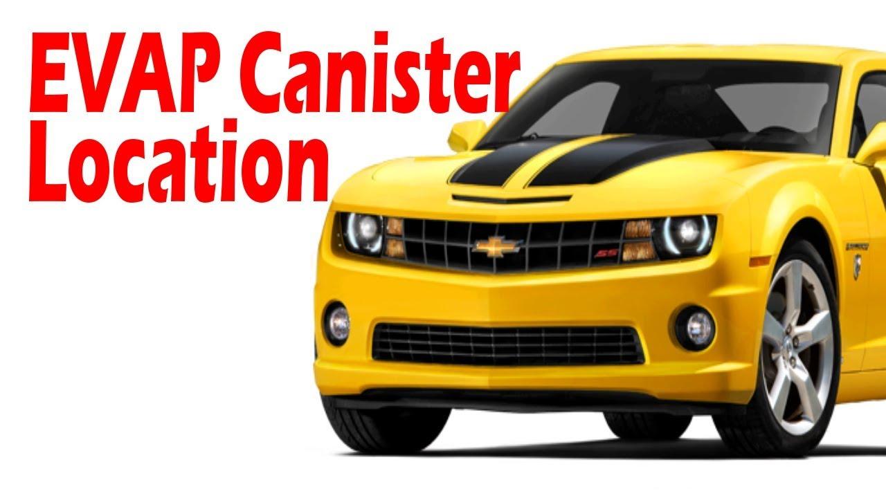 Chevrolet Camaro: Evap canister location