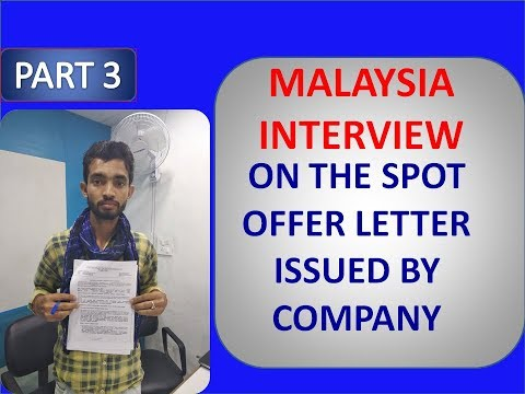 MALAYSIA WORK PERMIT FOR 3 YEARS | INTERVIEW GENERAL WORKER | MORE JOBS COMING SOON