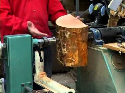 how to attach wood to a lathe 2