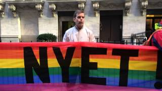 Queer Nation NY at Russia Day at NYSE 4