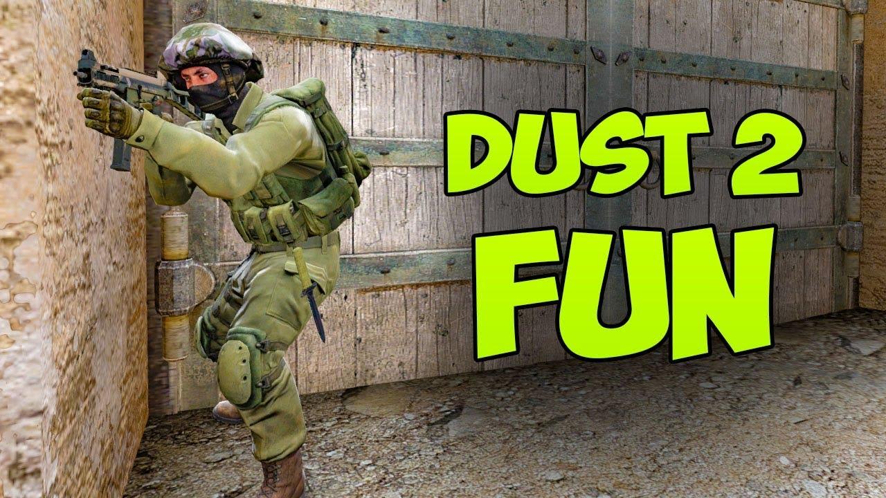 DUST 2 também pode ser divertido - CSGO Faceit + vídeo