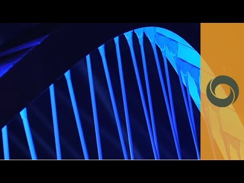 Schuman Bridge dressed in light for its opening in Lyon