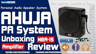 AHUJA-NBA15 Personal Audio Speakers | Unboxing & Review