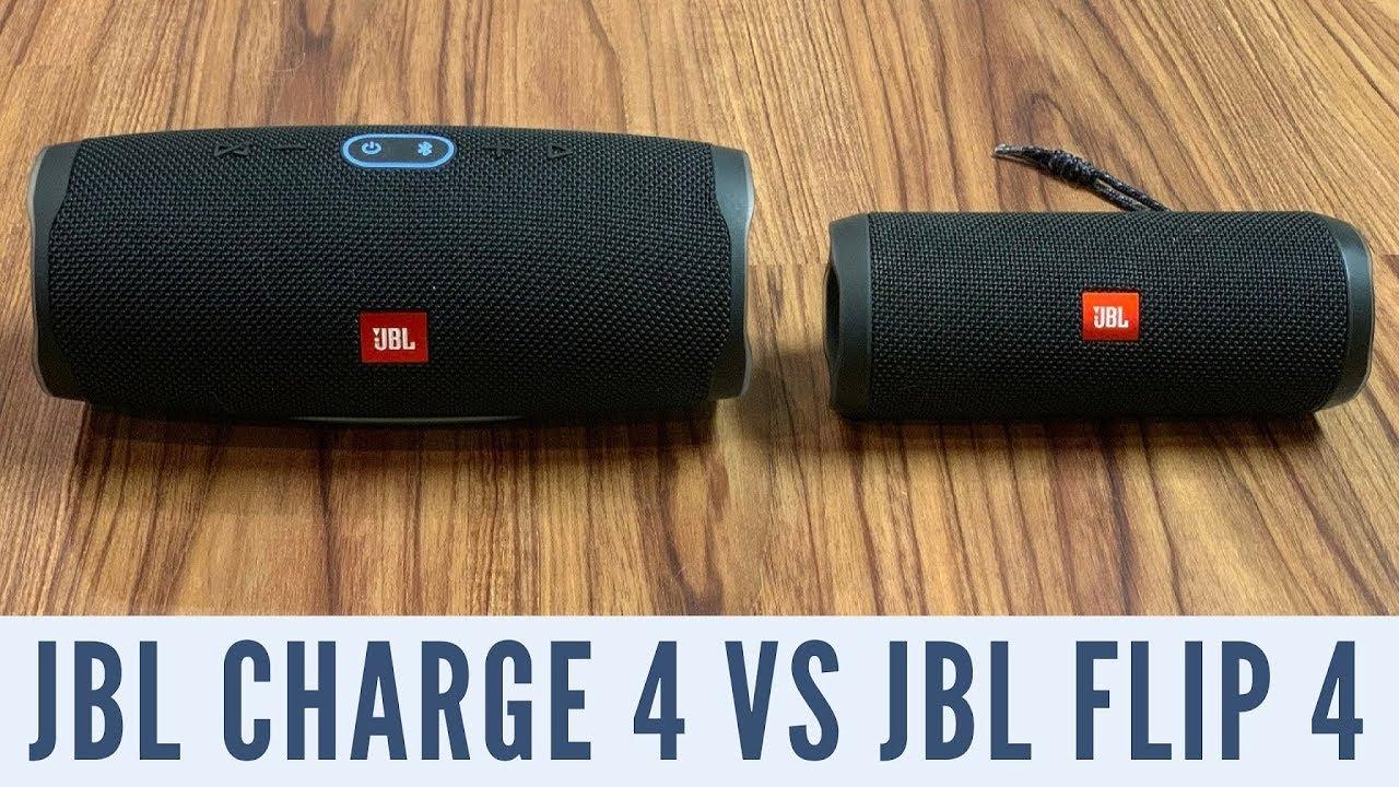 JBL Charge 4 vs JBL Flip 4 - YouTube