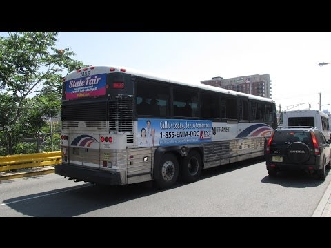 NJT MCI D4000 #7485 on the 163 to New York via Union City (Inside) in HD