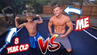 GAME OF TRAMPOLINE VS AN 8 YEAR OLD!