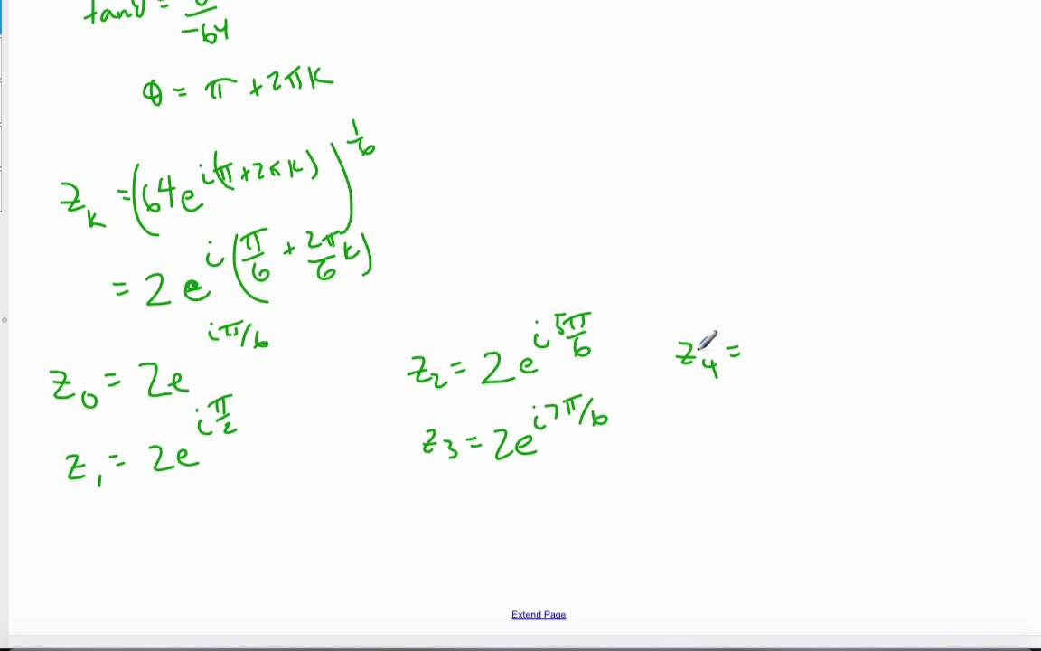 IB Math HL - 13 04 0 Roots of Complex Numbers