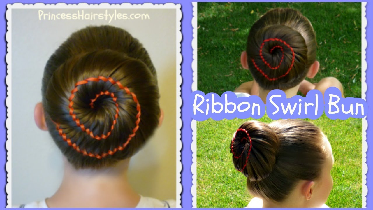 Hair Style Videos Youtube: Ribbon Swirl Bun Hairstyle Tutorial
