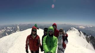360° on the peak of Mont Blanc